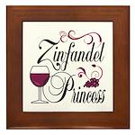 Zinfandel Wine Princess Framed Tile