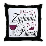 Zinfandel Wine Princess Throw Pillow