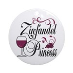 Zinfandel Wine Princess Ornament (Round)