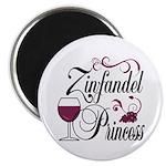 Zinfandel Wine Princess Magnet