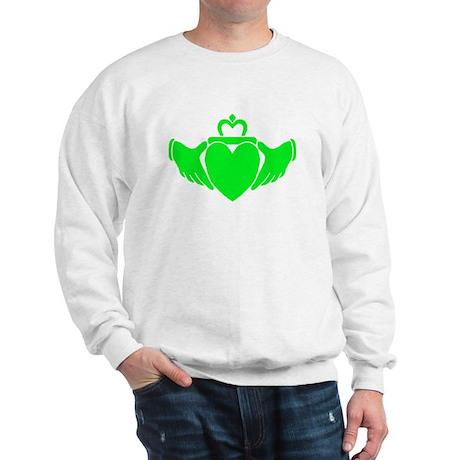 Crazy Green Claddagh Sweatshirt