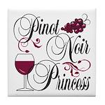 Pinot Noir Princess Tile Coaster