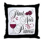 Pinot Noir Princess Throw Pillow