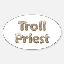 Troll Priest Oval Decal