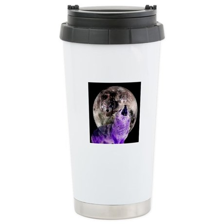 Three Moon Wolf Stainless Steel Travel Mug