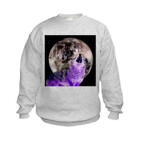 Three Moon Wolf Kids Sweatshirt
