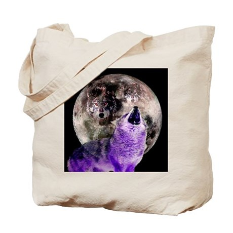 Three Moon Wolf Tote Bag