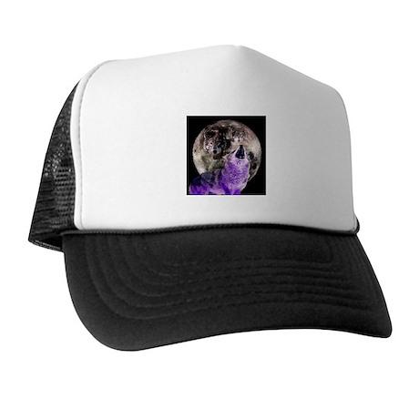 Three Moon Wolf Trucker Hat