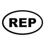 REP Oval Sticker