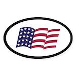 BUSH FLAG Oval Sticker