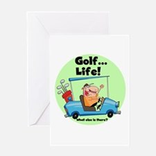 Golf is Life Greeting Card