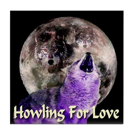 Howling For Love Tile Coaster