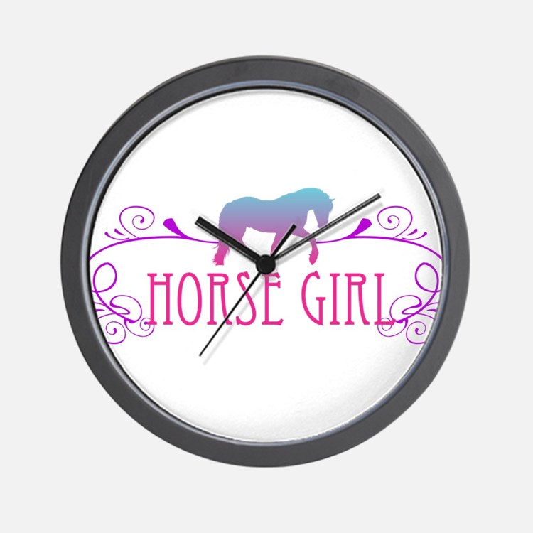 Horse Girl Wall Clock