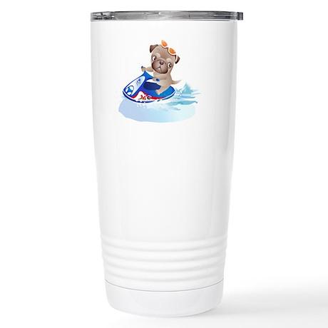 Stainless Steel Travel Mug - Jetski Pug