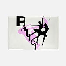 Silhouette Ballet Rectangle Magnet