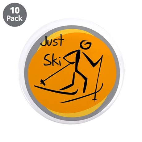 """Just Ski 3.5"""" Button (10 pack)"""