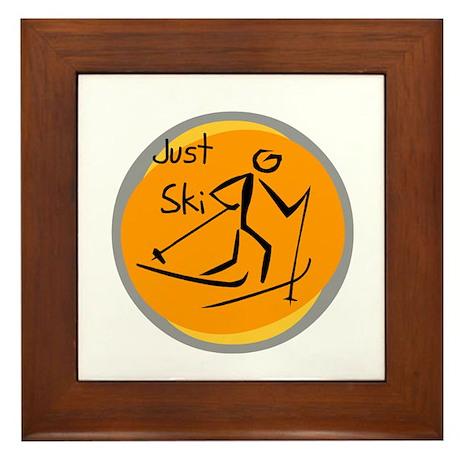 Just Ski Framed Tile