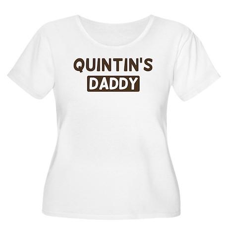 Quintins Daddy Women's Plus Size Scoop Neck T-Shir