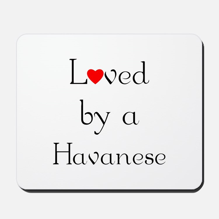 Loved by a Havanese Mousepad