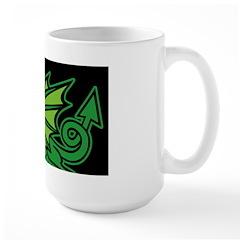 Midrealm Dragon Black Large Mug