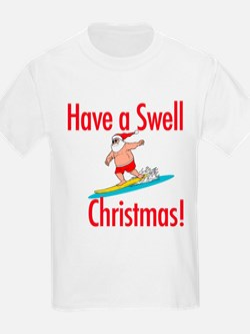 Santa Surfing Kids T-Shirt