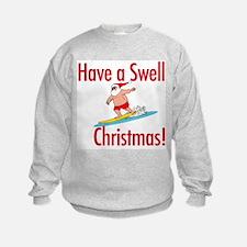 Santa Surfing Sweatshirt
