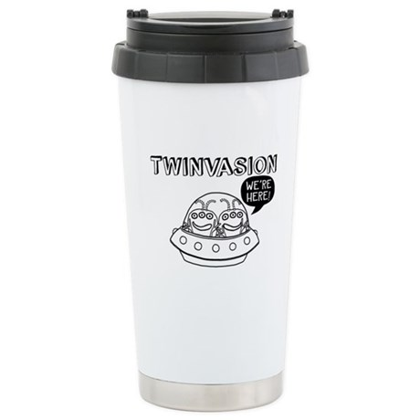 TWINVASION We're Here! Stainless Steel Travel Mug
