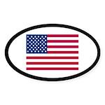 AMERICAN FLAG Oval Sticker