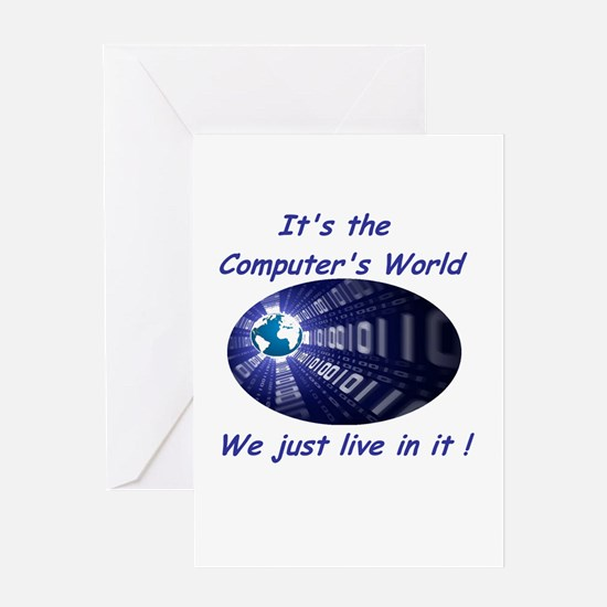 It's a Computer World Greeting Card