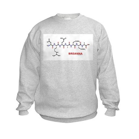 Breanna name molecule Kids Sweatshirt