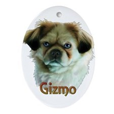 Gizmo- Shih Tzu Oval Ornament