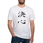 Determination - Kanji Symbol Fitted T-Shirt