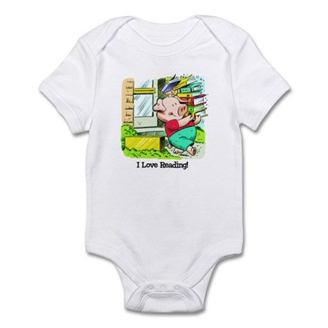 I love Reading, Pig Infant Bodysuit