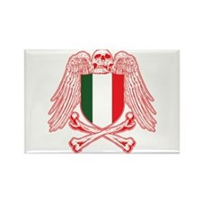 Italy Crossbones Rectangle Magnet (10 pack)