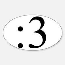 :3 Oval Decal