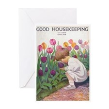 card_child_tulip Greeting Cards