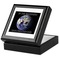 Man Created God Keepsake Box