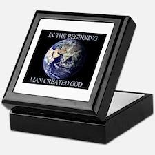 Man Created God Keepsake Box