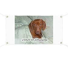 Mornings Dog Banner
