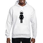 headphone girl Hooded Sweatshirt