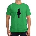 headphone girl Men's Fitted T-Shirt (dark)