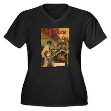 Mucker Women's Plus Size V-Neck Dark T-Shirt