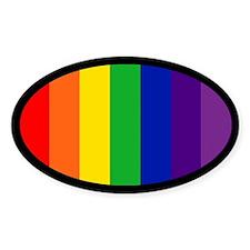 RAINBOW FLAG Oval Decal