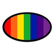 RAINBOW FLAG Oval Stickers
