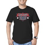 Major League Dad Men's Fitted T-Shirt (dark)