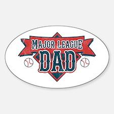 Major League Dad Oval Decal