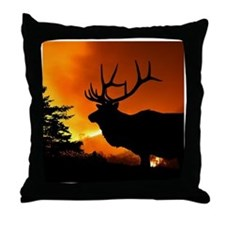 Elk Throw Pillow