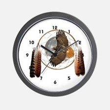 Spirit Hawk Wall Clock