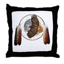 Spirit Hawk Throw Pillow