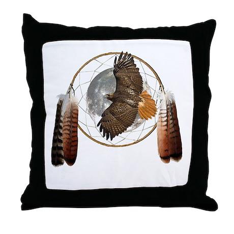 Spirit Hawk Throw Pillow